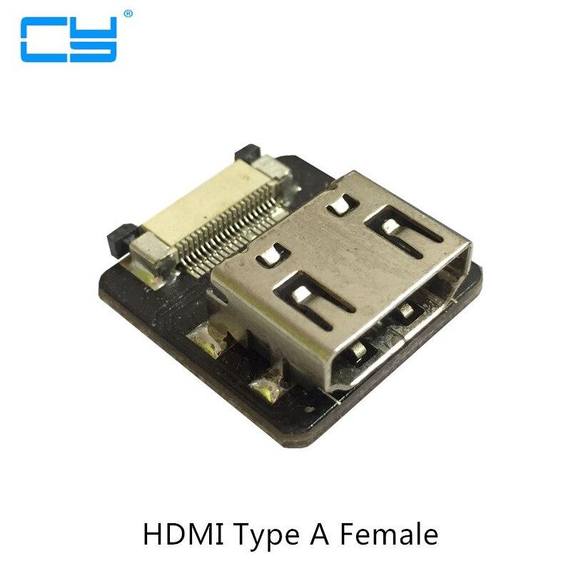FPV HDMI Digite Uma Fêmea Fêmea C D Feminino mini HDTV HDMI micro HDMI Soquete Conector para FPV Multicopter Aérea fotografia