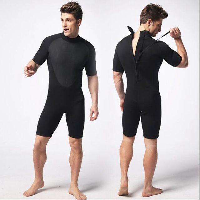 62a1a54bb 3mm wetsuit neoprene shorty homens triatlon maiô Plus Size preto dos homens  de