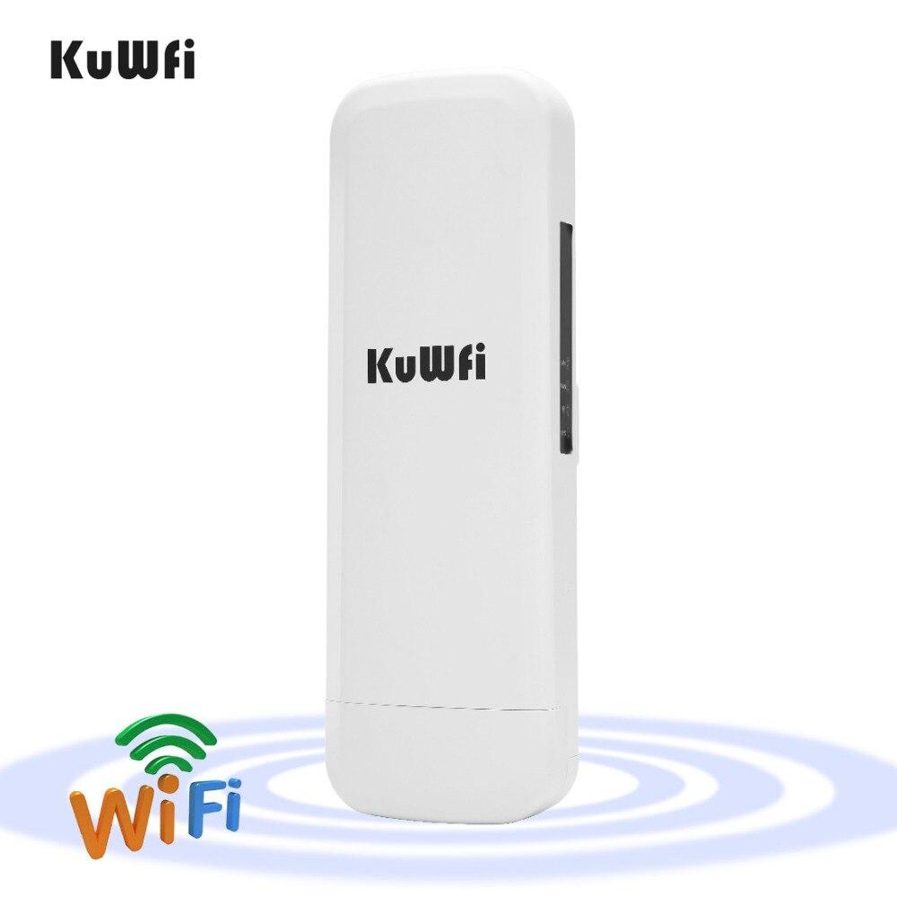 Kuwfi 3Km 2.4G 300 Mbps Wifi routeur CPE répéteur Wifi Point d'accès sans fil de pont d'extension Wifi pour l'affichage de LED de caméra sans fil