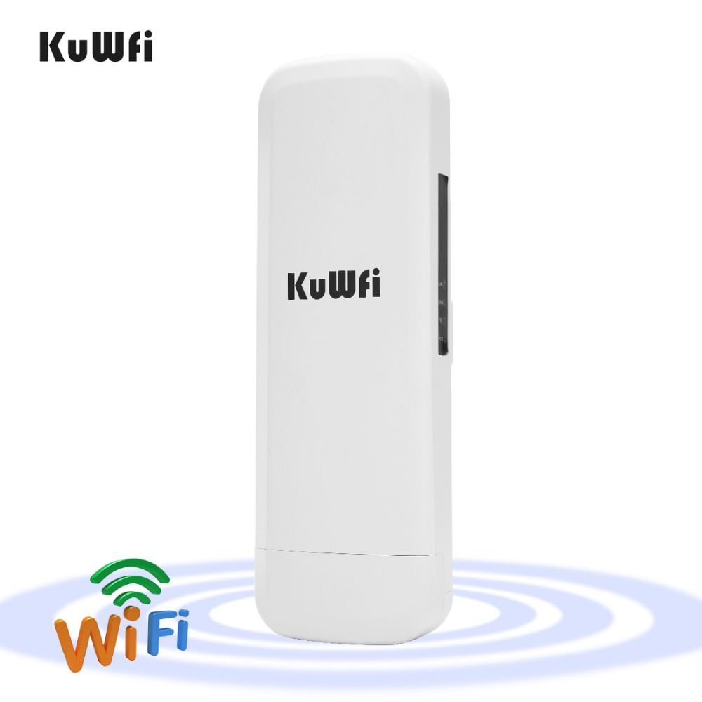Kuwfi 3Km 2.4G 300Mbps Wifi CPE Router Wifi Repeater Wifi Extender Wireless Bridge Access Point For Wireless Camera LED Display wireless wifi