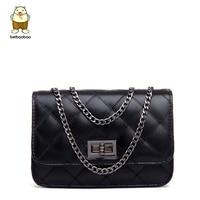 Beibaobao 2017 Classical Design Plaid Design Women Messenger Bags Lock Chain Women Bags Good Quality Hot