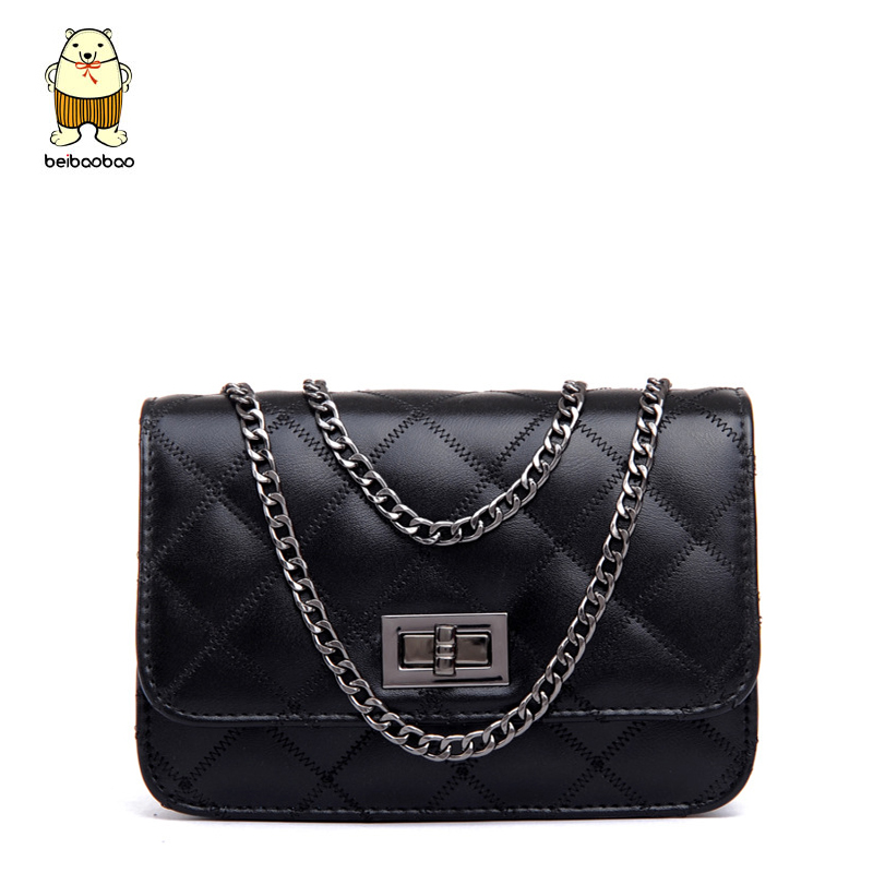 Beibaobao Women Messenger Bags 2018 Classical Design Plaid Famous Lock Chain Women Bag Good Quality Hot Female Tote Bolsas B004 vintage women s tote bag with strap and plaid design