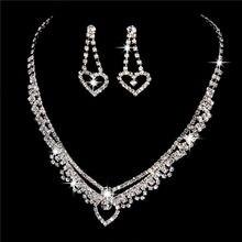 Novo design de alta qualidade austrália cristal conjuntos jóias nupcial nobre jóias casamento bijoux acessório