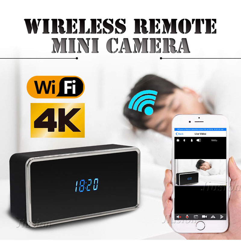 все цены на 4K Mini Wifi Camera HD Micro Cam of Table Clock Night Vision Motion Detection Video Audio Recorder IP Camcorder Remote Webcam онлайн