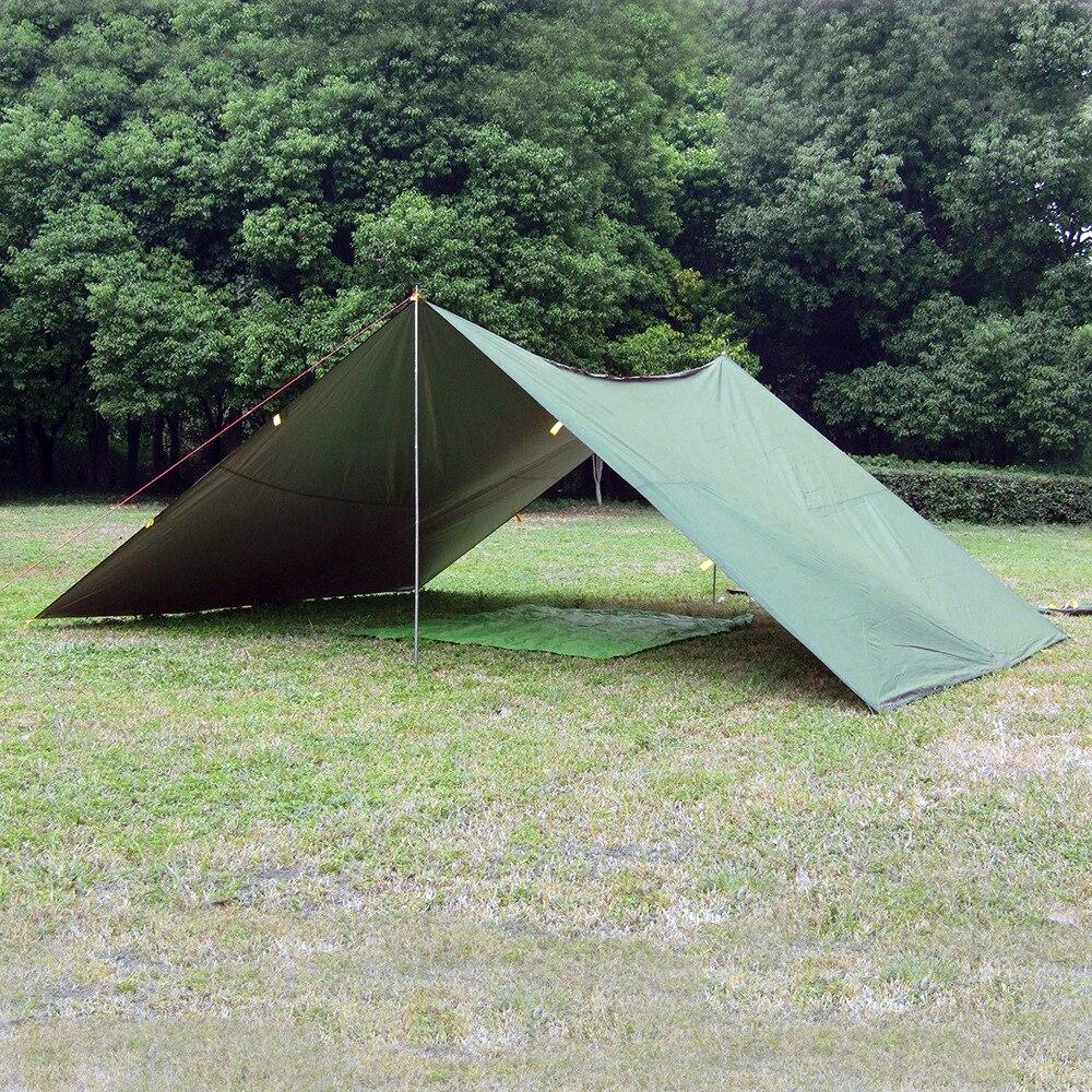 LUCKSTONE 5M 3M Silver Coating Anti UV Tarp Ultralight SunShelter bikini Tent Pergola Awning Canopy Taffeta