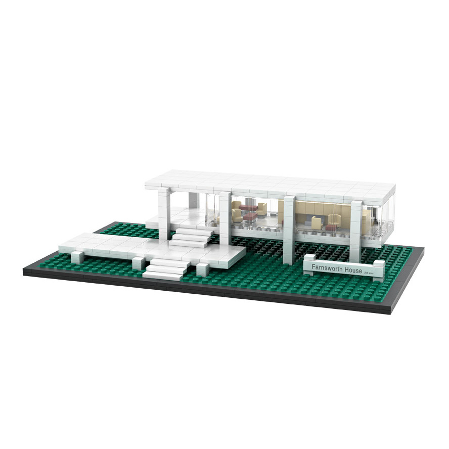 2018 America nanoblock model toys for kids mini diamond building block world famous Architecture building block farnsworth house loz mini diamond building block world famous architecture nanoblock easter island moai portrait stone model educational toys