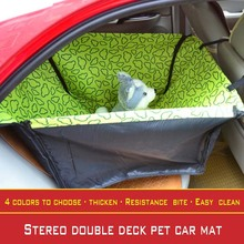 2017 New print design waterproof Oxford cloth collapsible double-deck pet car mat cat and dog outdoor travel essential