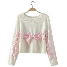 28d2ef7773e LIVA Girl mujer arco suéter mujer joven suave flojo tejer Suéteres puentes  adolescente señora Navidad suéter