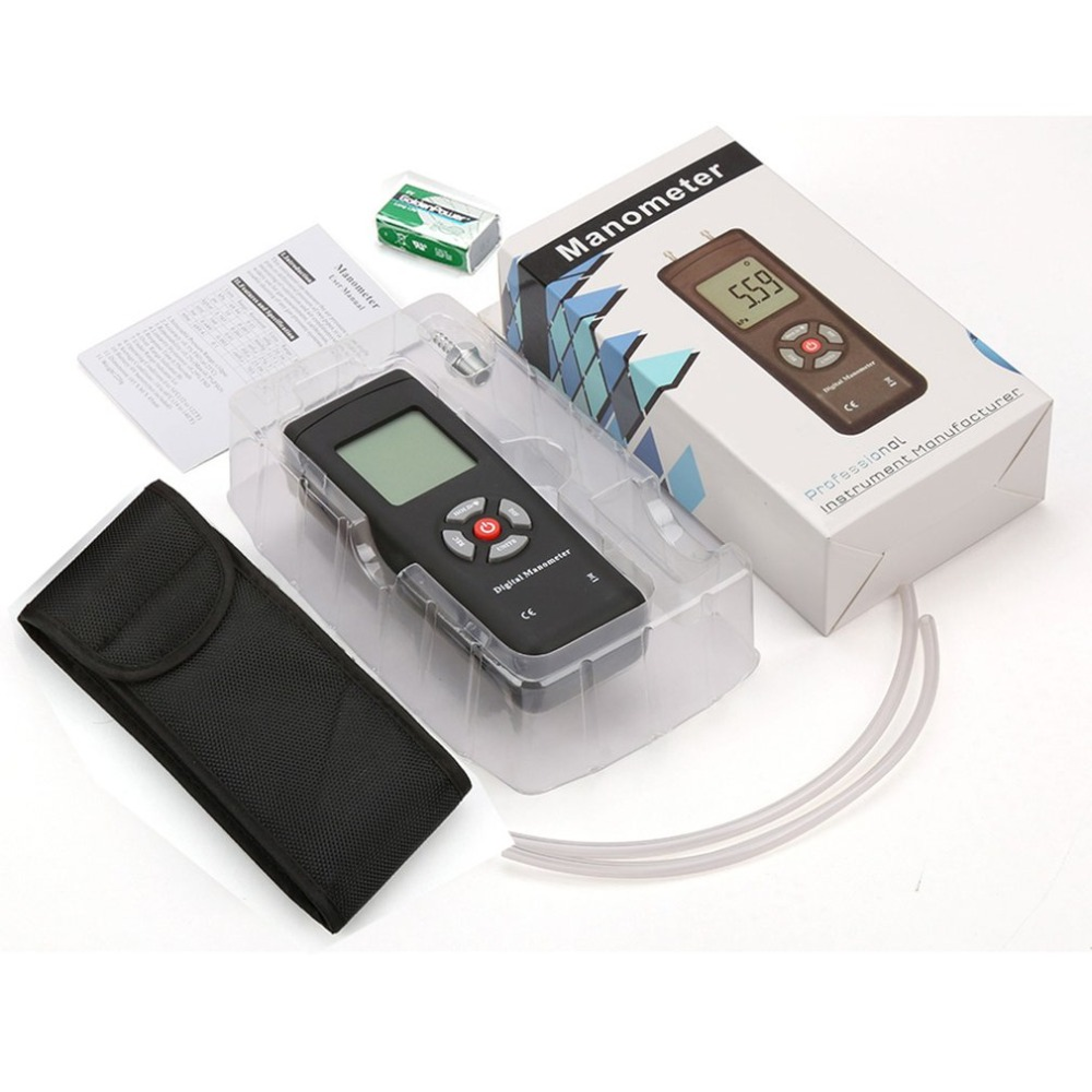 Neue Kommen TL-100 Digital Manometer Luftdruck Meter Handheld Druck Messgeräte Handheld U-typ Differential Druck Meter