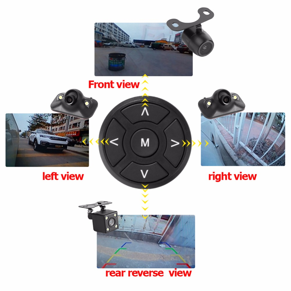 360 Degree Bird View System Universal Recording Parking Rear View Car DVR 4 Camera Panoramic Front+Rear+Left+Right View Cam
