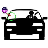 BEESCLOVER Uber LED Flashing Car Glow Cycle Sticker White Light Sign Sticker On Window with Intelligent Induction mini size 4