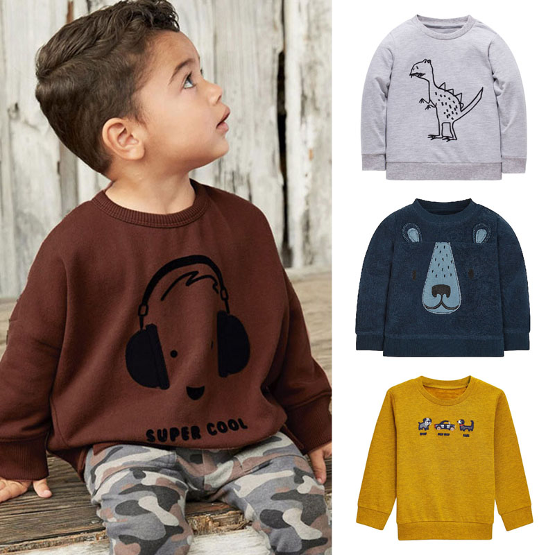 New 2018 Brand Quality 100% Terry Cotton Sweaters Baby Boys Clothes Children Clothing t shirt Bebe Boys Hoodies Tee Kids Outwear