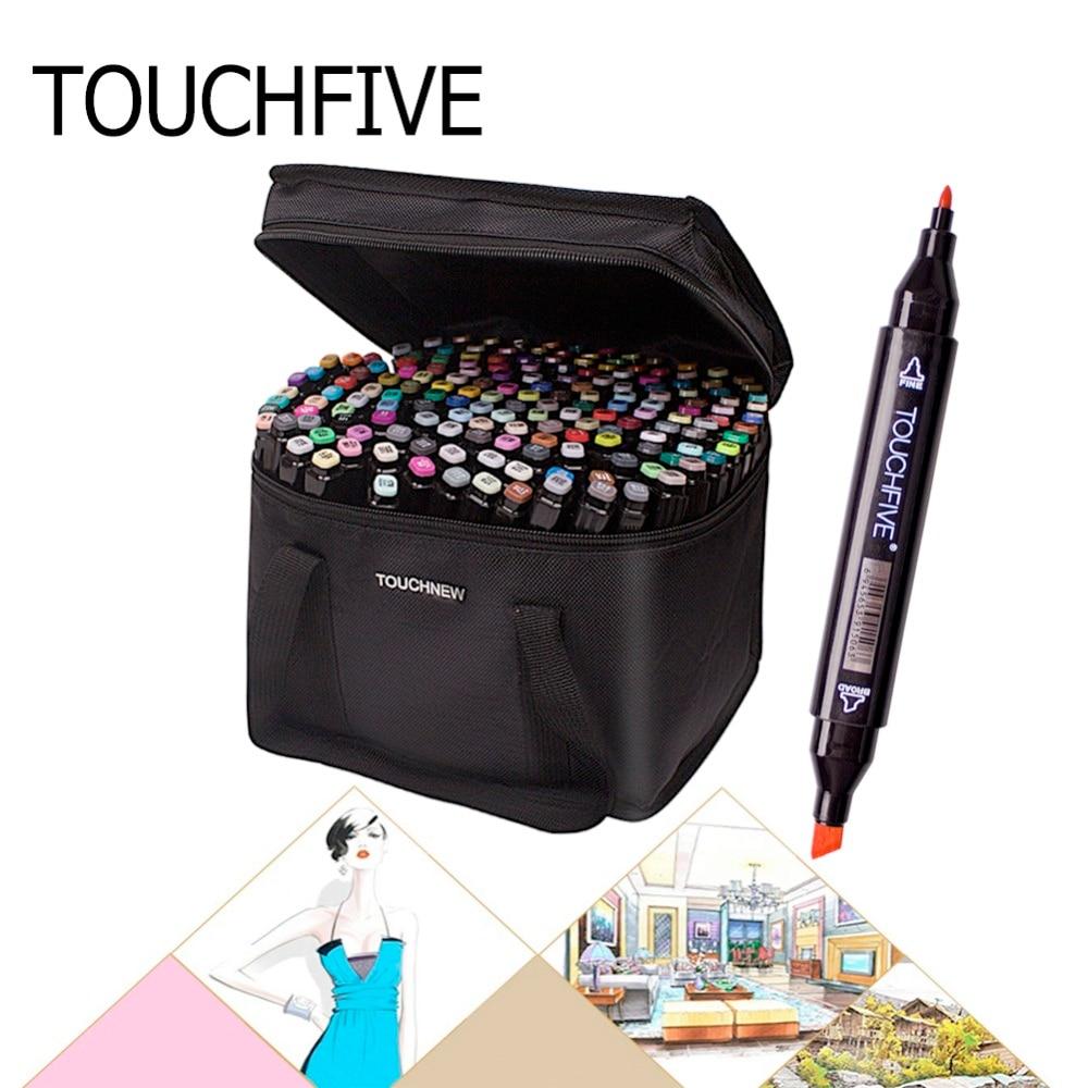Haut Skizze Marker Stift Touchfive 30/40/60/80/168 Farbe Dual Pinsel Skizze Alkohol Marker art Marker Set Manga Kunst Liefert
