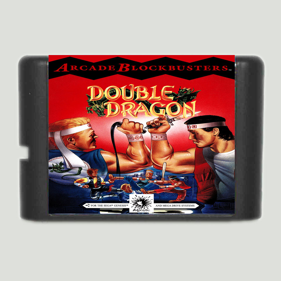 Double Dragon 16 bit SEGA MD Game Card For Sega Genesis mickey mouse castle of illusion