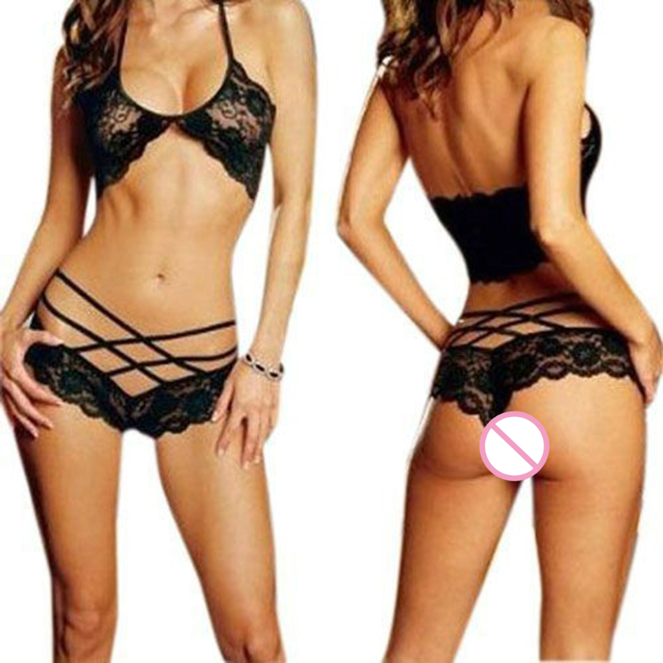 2018 Ladies Hot Sexy Lingerie Halter Sleepwear Lace Sexy Costumes Women Sexy Underwear Temptation Erotic Lingerie Porno Costumes 1