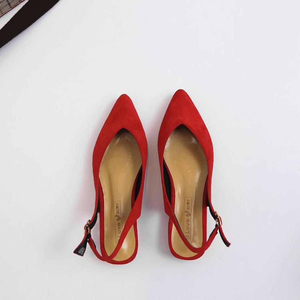 Mujeres 2019 Venta black Causal De Buena Moda Señoras Calidad Regalo Las Caliente Hebilla 10 Simple Damas Zapatos Punta red Beige fXfxg