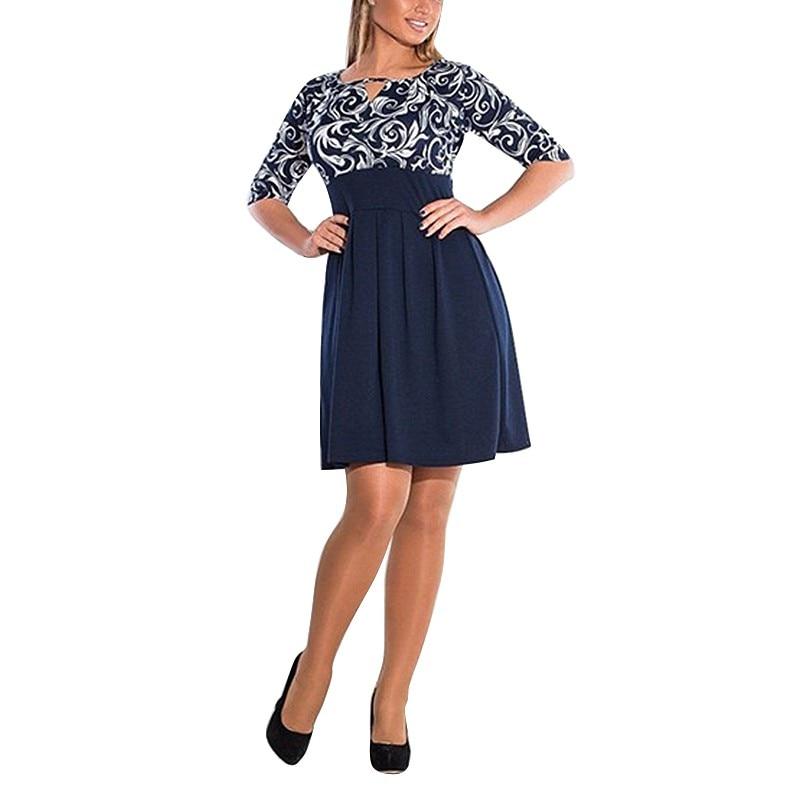Las mujeres de moda del partido de clubwear bodycon impreso dress plus size 6xl
