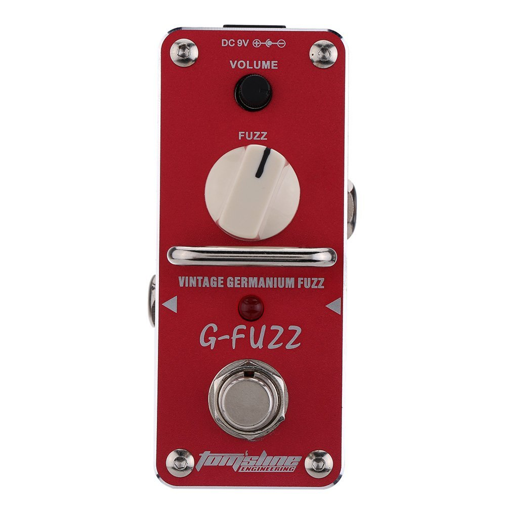 AROMA AGF-3 G-FUZZ Guitar Pedal Vintage Germanium Fuzz Guitar Effect Pedal Mini Analogue True Bypass Guitar Parts & Accessories aroma agr 3 true bypass greenizer vintage overdriver electric mini singer guitar effect pedal professional guitar parts