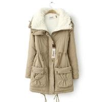 Winter Jacket For Women Hooded Thick Parkas Pockets Lamb Fur Jacket Women Large Size Women Jacket Long Parkas Women Plus Sizes
