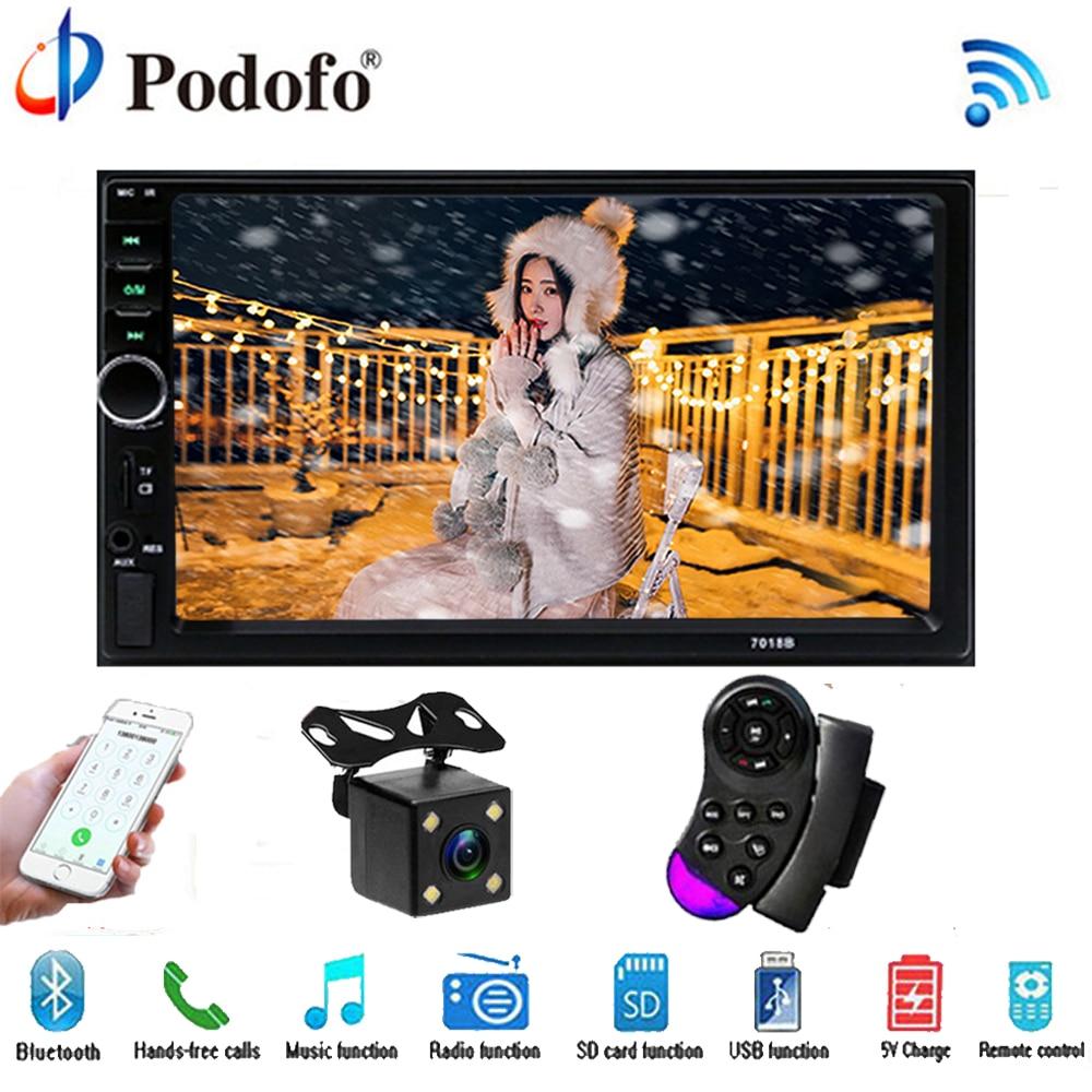 Podofo Car Radio Autoradio 7 LCD Touch Screen7018B Multimedia Player Audio Stereo Bluetooth Car Audio Support