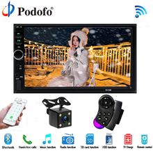 "Podofo Auto Radio Autoradio 7 ""LCD Touch Screen7018B Multimedia Lettore Audio Stereo Bluetooth Car Audio Supporto Videocamera vista posteriore"