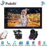 Podofo Car Radio Autoradio 7 LCD Touch Screen7018B Multimedia Player Audio Stereo Bluetooth Car Audio Support Rear View Camera