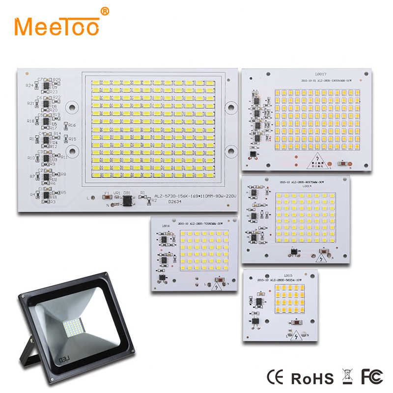 SMD5730 2835 LED Lamps Chip Smart IC 220V 10W 20W 30W 50W 90W Bulb For Outdoor FloodLight Lighting Cold In White/Warm White