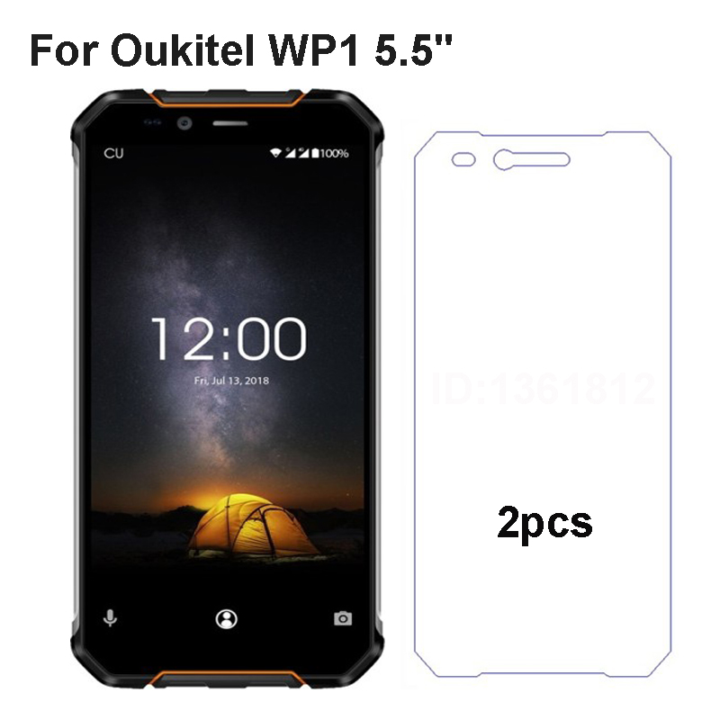 2PCS Oukitel WP1 Tempered Glass Film Front Protective Replacemant Part For Oukitel WP1 Glass Screen Protector Mobile Phone Film