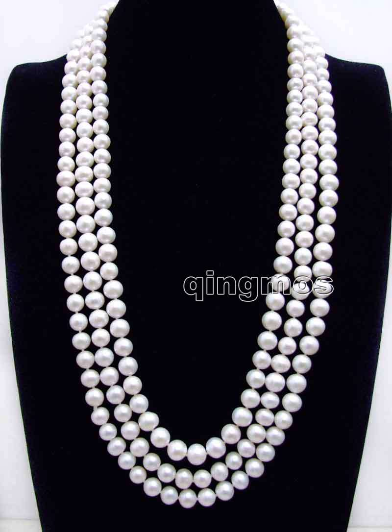 Super Long! 80 AA 9-10mm White Round High Quality Natural Freshwater pearl necklace-nec6248 Wholesale/retail Free shipSuper Long! 80 AA 9-10mm White Round High Quality Natural Freshwater pearl necklace-nec6248 Wholesale/retail Free ship