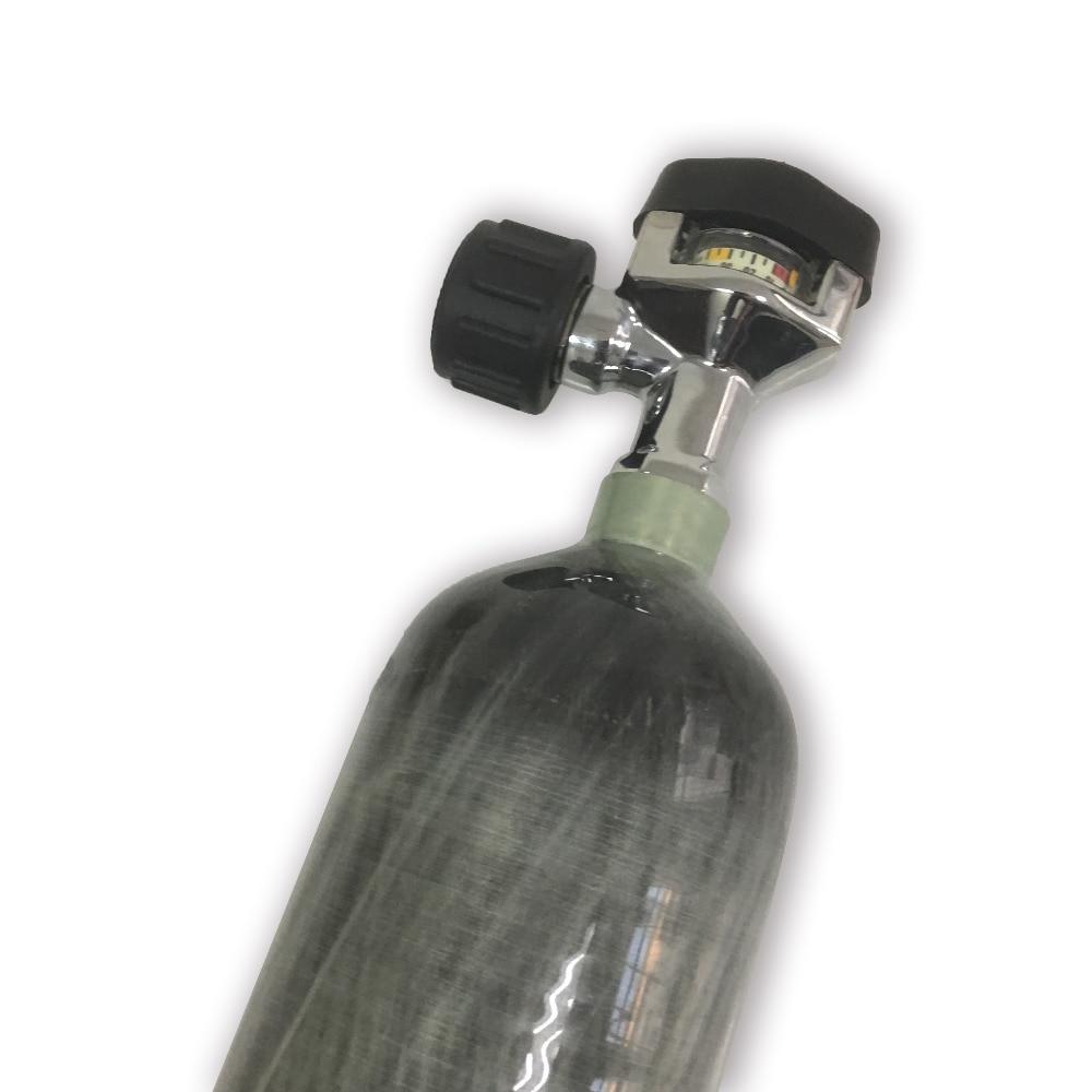 Image 2 - AC1217 сжатый воздух углеродного волокна цилиндр сцепление страйкбол 2.17L 300bar с черным клапаном для пневматическое оружие ручной пистолет аксессуары-in Пейнтбольные аксессуары from Спорт и развлечения
