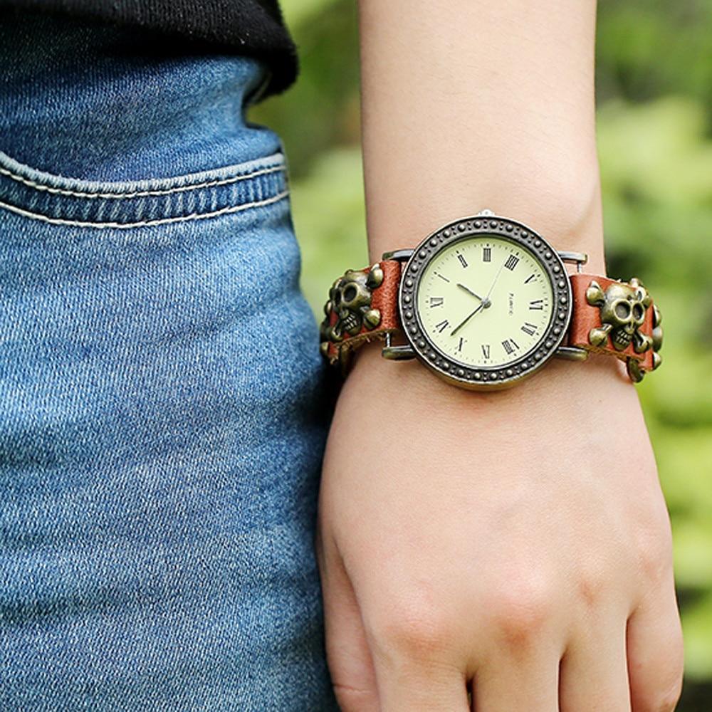 Mance 2016 On Sale Punk Rock Cool Fashion Unisex Women Man Watches Bracelet Cuff Gothic Quartz Wrist Watches Relogio punk rock chain skull women men bracelet cuff gothic wrist watch 928