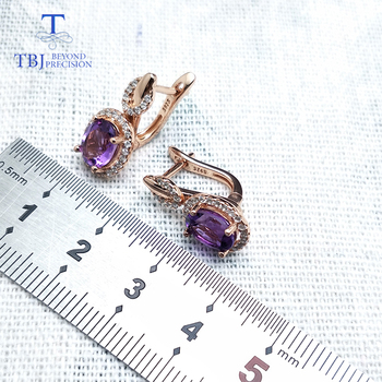 Amethyst Gold Plated 925 Sterling Silver Earrings 3