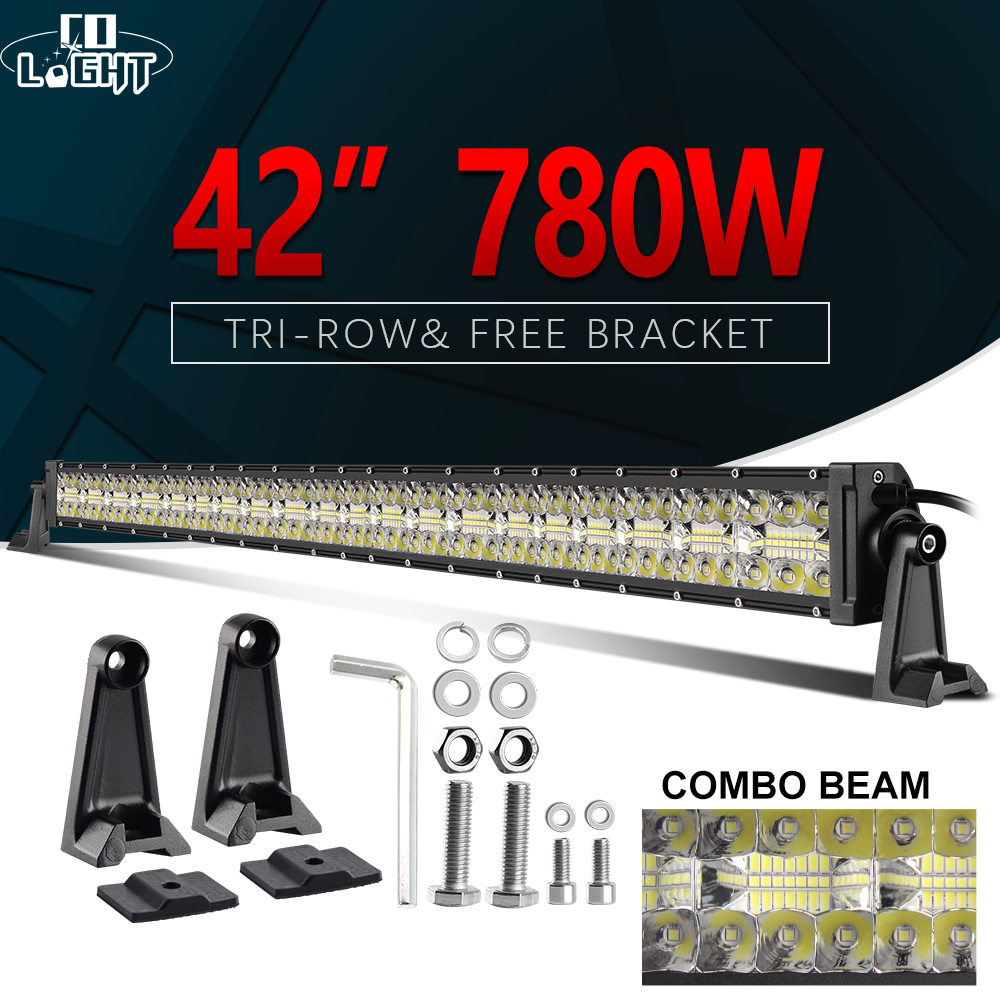 CO LIGHT 7D Led Light Bar 780W Led Bar Offroad 42 inch Combo 3 Rows High