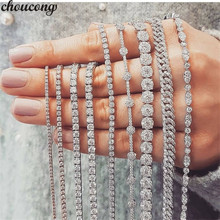 29 стилей, модный Теннисный браслет, белое золото, заполненный камнями AAAAA Cz, массивные вечерние свадебные браслеты для женщин и мужчин, ювелирные изделия