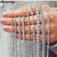 29 stili di Moda bracciale Tennis In Oro Bianco Riempito Pavimenta AAAAA Cz pietra Dichiarazione Del Partito Matrimonio bracciali per le donne degli uomini Dei Monili
