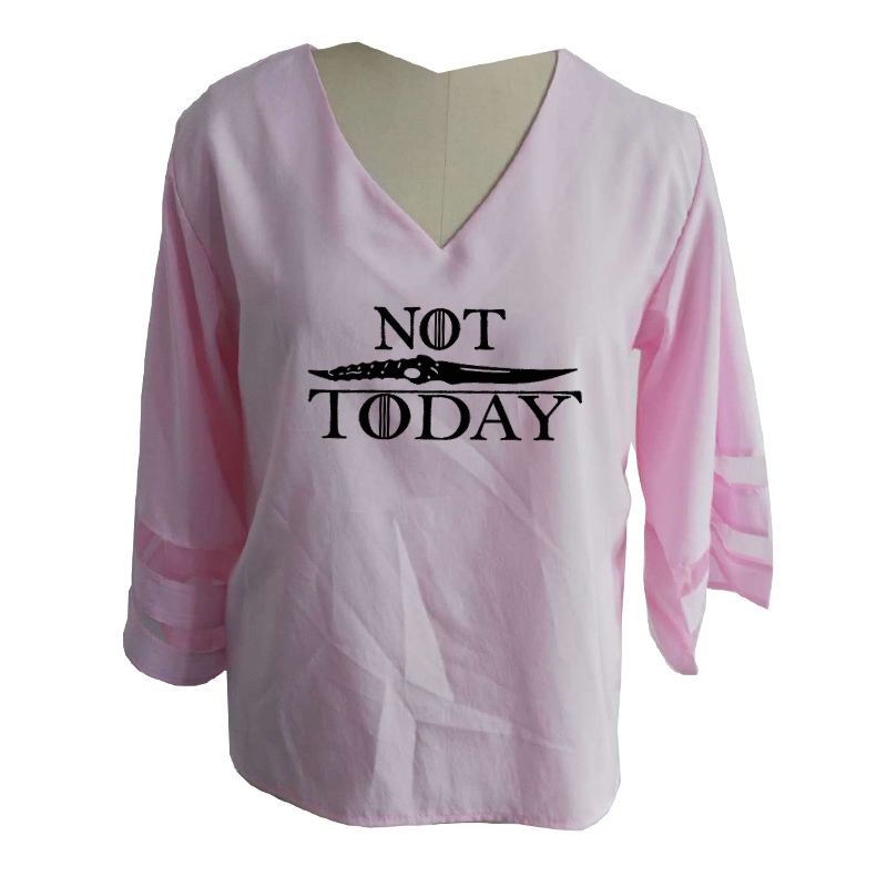 T-Shirt Not Today Arya Stark Quote Game of Thrones-Serie TV