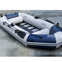 3 Person Inflatables Boat PVC Material Professional Fishing Boat Inflatable Laminated Wear Resistant Boat Rubber With Oars Pumps