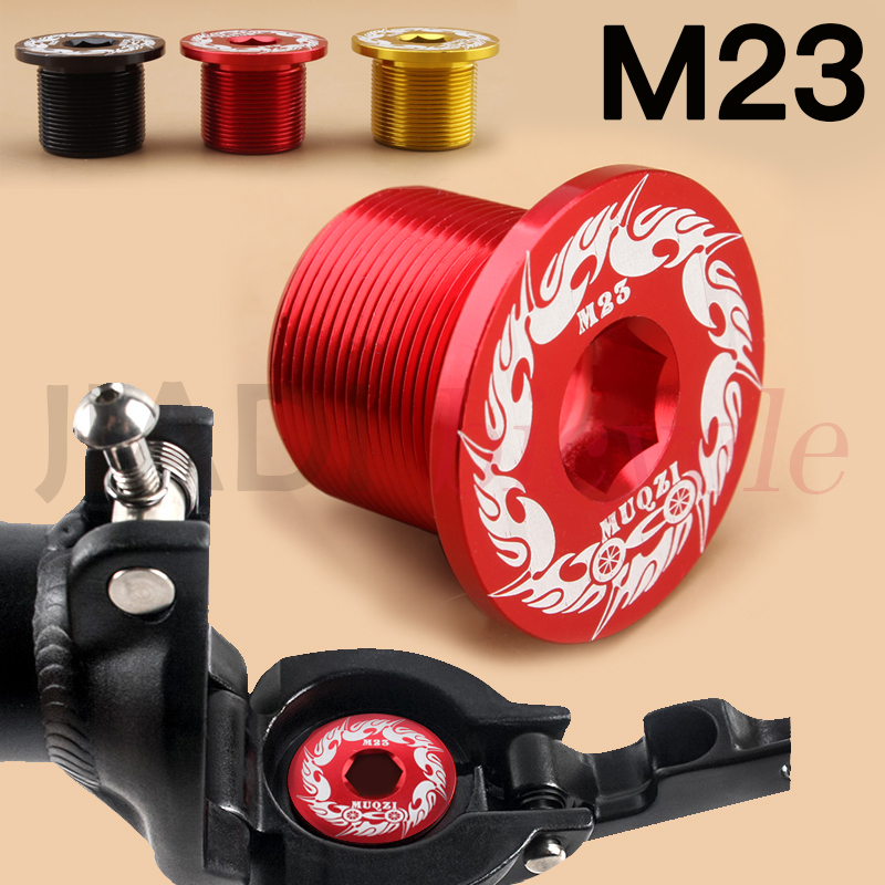 MUQZI Folding Bicycle <font><b>Bike</b></font> Head Tube M23 Fixing Screw Connecting <font><b>Nut</b></font> Fork <font><b>Stem</b></font> Riser Aluminum Alloy High Strength Screws Bolt image