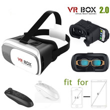 3D Virtual Reality VR Box II 2.0 Glasses Headset Helmet for 3.5~6 Inch Android Phone Samsung Galaxy S7 Edge + Bluetooth Remote