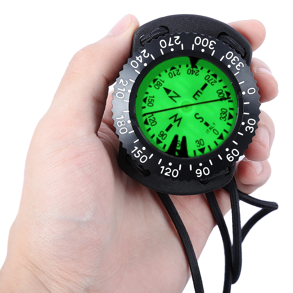 ФОТО EZDIVE Diving Scuba Wrist Compass Deep Sea Exploring Supplies Pointing Guide Under Water Compass For Diving