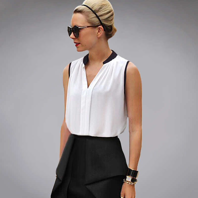 New Aliexpresscom  Buy 2015 Women Elegant Basic Blouse Shirt