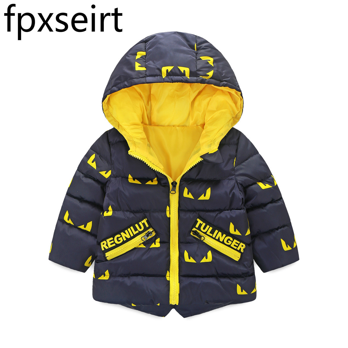 Winter Kids Boy Jacket Cotton Outerwear Baby Boy Padded Jacket Children Winter-Clothing Hooded Kids Coat Warm Hooded Jacket