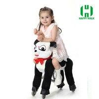 ПРИВЕТ CE механические ездить на лошади минутах езды на верхом на лошади игрушка панда Пони цикла для мальчиков и девочек детские подарки на
