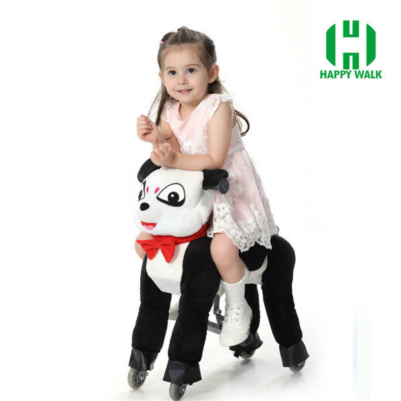 HI CE Mechanical Ride on Horse Walking Ride on Horse Ride on Horse Toy Panda Pony Cycle For Boy Girl Children New Year Gifts kaaral шампунь для окрашенных волос на основе фруктовых кислот ежевики purify colore shampoo 1 л
