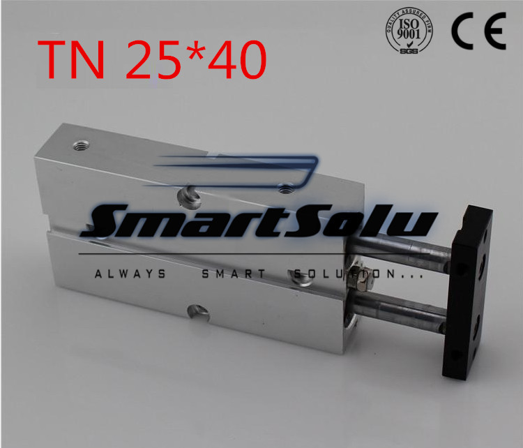 Free Shipping TN 25*40 Pneumatic TN Series 25mm Bore 40mm Stroke Twin Rod CylinderWith Magnet Twin Rod Air Cylinder 125cc cbt125 carburetor motorcycle pd26jb cb125t cb250 twin cylinder accessories free shipping