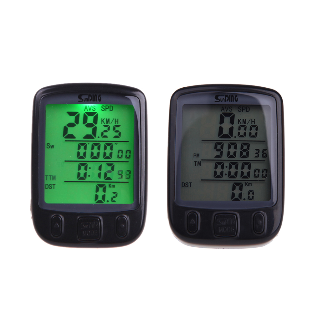 Waterproof 28 Function Wireless LCD Bike Bicycle Cycling Computer Odometer Speedometer Backlight Backlit SD-563C - Shenzhen NKU Electronic Co., Ltd. store