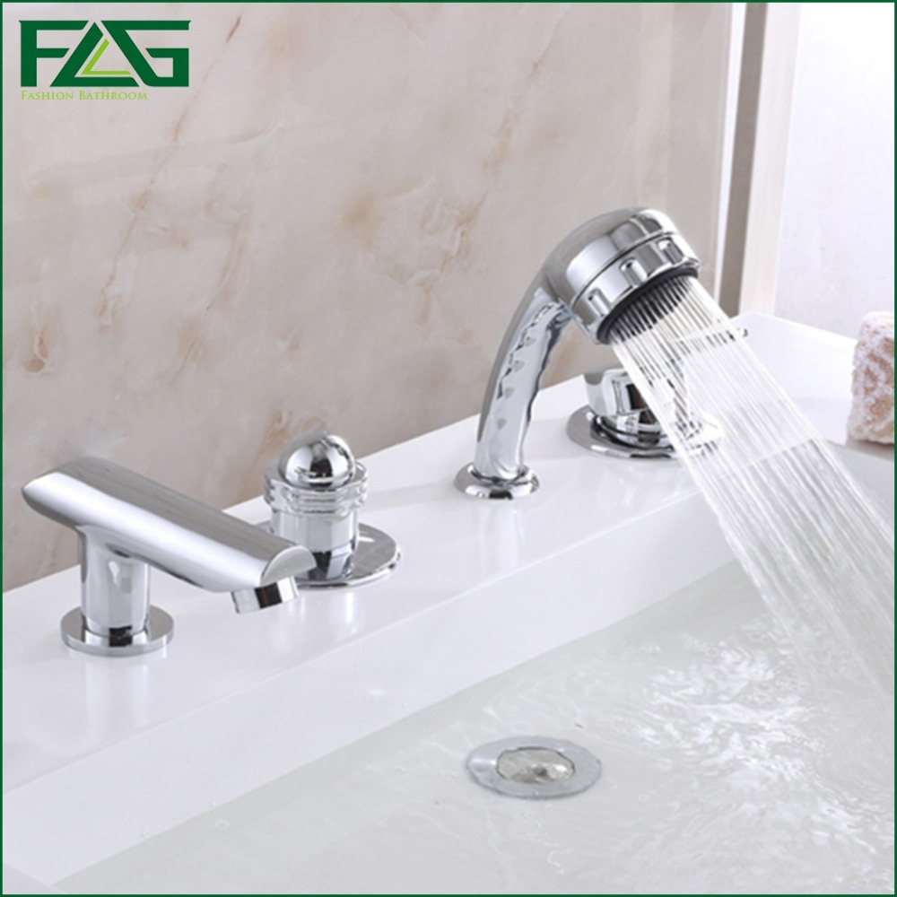 FLG Eurostyle Cosmopolitan Bath Faucet With Hand Shower Set Bathroom ...