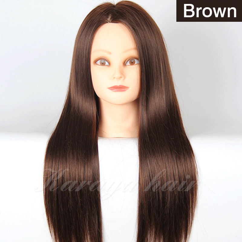 Brown Hair Styling Mannequins Cosmetology Mannequin Head For Wig Hairdressing Training Doll Heads Manikin Makeup Practice In From Home