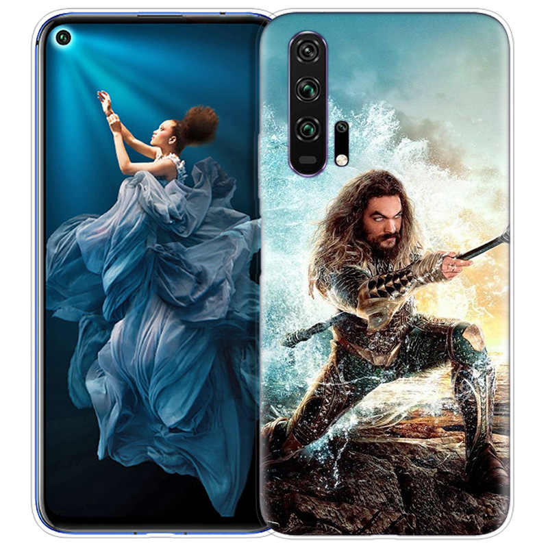 Aquaman Jason Momoa Case for Huawei Honor 8X 8C 8 9 10 20 Play 8A lite Pro V20 Y9 Y7 Y6 Y5 Prime 2018 2019 TPU Phone Bags Covers