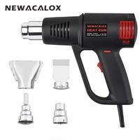 NEWACALOX Industrial Electric Hot Air Gun EU 220V 1500W Electrode Less Thermoregulator Heat Gun Plastic Torch